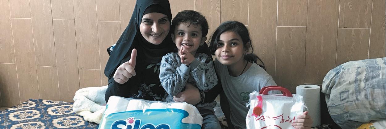 Voedselpakketten voor de Arabische gemeenschap